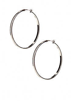 Kim Rogers Silver Large Smooth 14Kt Gold Filled Post Hoop
