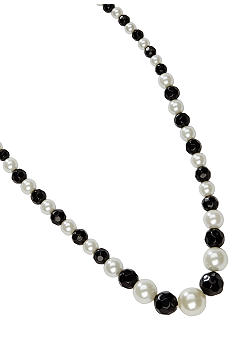 Kim Rogers Jet and Pearl Bead Necklace