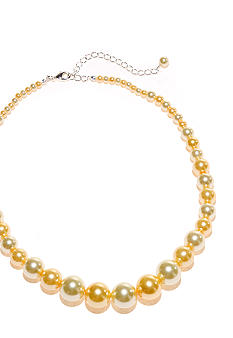 Kim Rogers 16-in. Yellow Tonal Pearl Graduated Necklace
