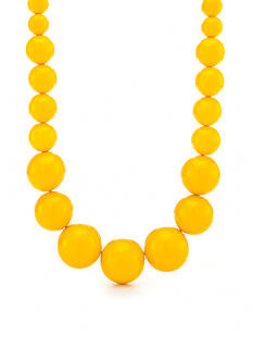 Kim Rogers Gold Lucite Graduated Beaded Necklace