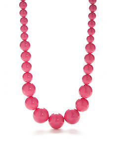 Kim Rogers Pink Lucite Bead Statement Necklace