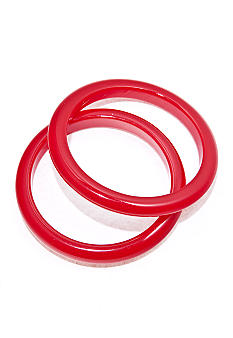 Kim Rogers® Red Bangles Set of 2