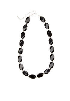 Kim Rogers Black and Silver Bead Wafer Necklace