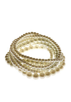 Kim Rogers White Pearl 7 Row Stretch Bracelets