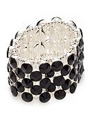 Kim Rogers® Faceted Jet Wide Stretch Bracelet
