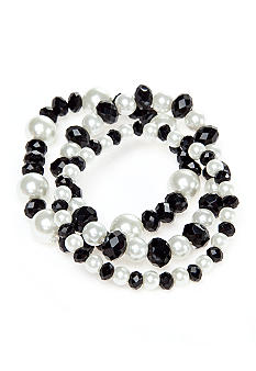 Kim Rogers Pearl Three Row Stretch Bracelet
