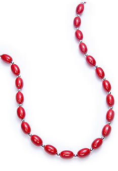 Kim Rogers® Red Oval Bead Necklace