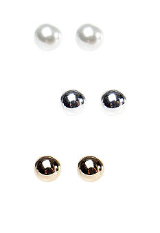 Kim Rogers 8mm Silver Ball Stud Trio