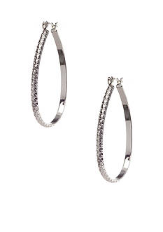 Kim Rogers Earring - Silver Plated 14Kt Gold Filled Post Large Silver Hoop
