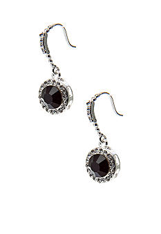 Kim Rogers Round Faceted Drop French Wire Earrings