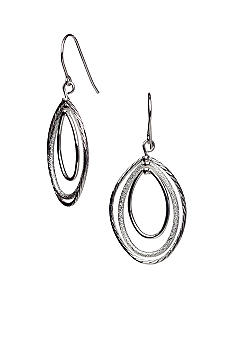 Kim Rogers 14K Gold Filled Post Silver Oval Rings Drop Earrings
