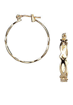 Kim Rogers 14K Gold Filled Post Gold Hoop Earrings