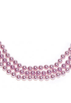 Kim Rogers Lavender Pearl 3 Row Necklace
