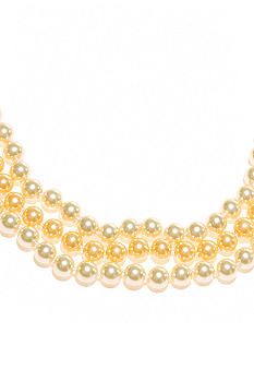 Kim Rogers Yellow Pearl 3 Row Necklace