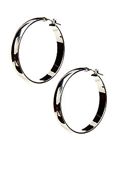 Kim Rogers Silver Wide 14Kt Gold Filled Post Hoop