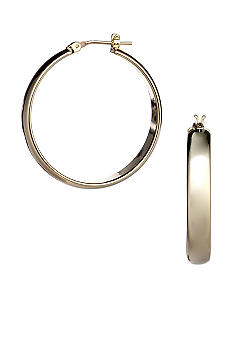 Kim Rogers 14K Gold Filled Post Hoop Earrings