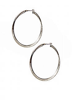 Kim Rogers Silver 14Kt Gold Filled Post Triple Hoop