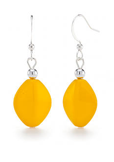 Kim Rogers Gold Lucite Drop Earrings