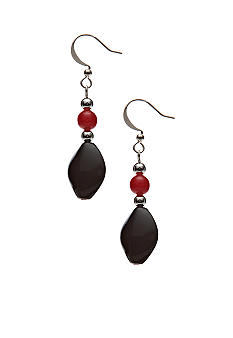 Kim Rogers Flat Oval French Wire Earrings