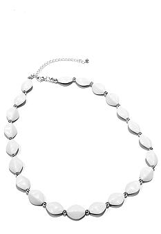 Kim Rogers 18-in. White Flat Oval Necklace