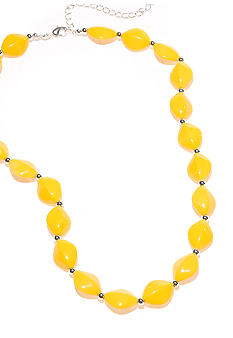 Kim Rogers 18-in. Yellow Flat Oval Bead Necklace