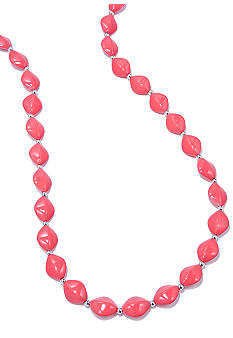 Kim Rogers 30-in. Coral Flat Oval Bead Necklace
