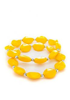Kim Rogers Gold Lucite 2-Piece Bracelet Set