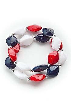 Kim Rogers Flat Oval Stretch Bracelet Set