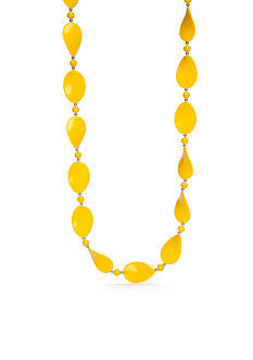 Kim Rogers Gold Lucite Flat Oval Necklace
