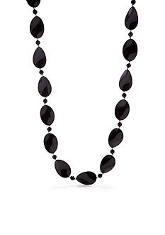 Kim Rogers Black Wavy Oval Necklace