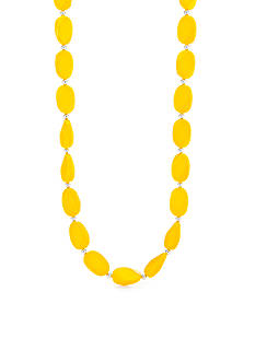 Kim Rogers Gold Lucite Waffle Wafer Necklace
