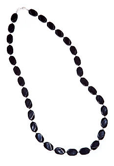 Kim Rogers 30-in. Black Oval Wafer Necklace