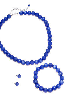 Kim Rogers Blue Necklace, Bracelet and Earring Set