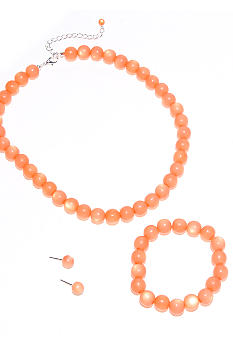 Kim Rogers Orange Necklace/Bracelet/Earring Set