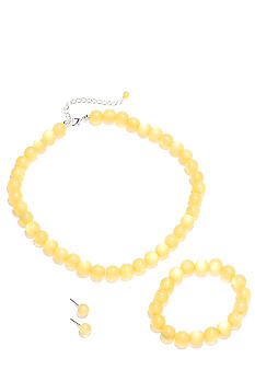 Kim Rogers Yellow Necklace/Bracelet/Earring Set