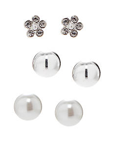 Kim Rogers Trio Ball and Flower Stud Earring