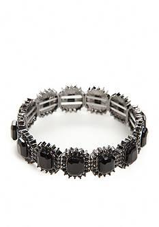 Kim Rogers Hematite-Tone Jet Stretch Bracelet