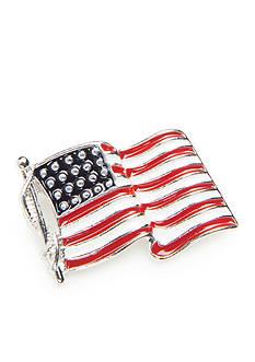 Kim Rogers Silver-Tone Small American Flag Pin