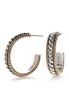 Kim Rogers Two-Tone Adeline C Hoop Earrings