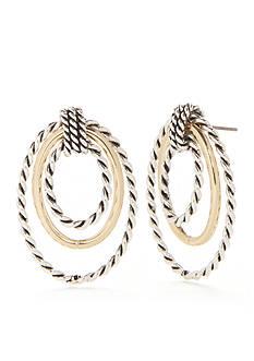 Kim Rogers Two-Tone Cara Doorknocker Earrings