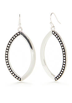 Kim Rogers Silver-Tone Olive Drop Earrings