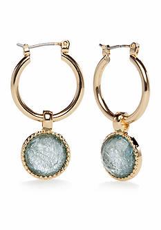 Kim Rogers Gold-Tone Threaded Gems Hoop Earrings