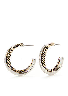 Kim Rogers Two-Tone Zoey C Hoop Earrings