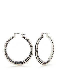 Kim Rogers Silver-Tone Maddie Large Hoop Earrings