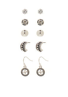 Kim Rogers Silver-Tone Bali Cubic Zirconia Boxed Earring Set