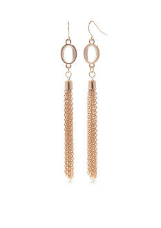 Kim Rogers Gold-Tone Tassel Drop Earrings