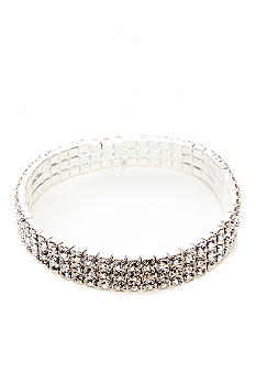 Kim Rogers® Rhinestones Three Row Stretch Bracelet