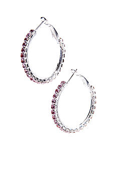 Kim Rogers Rhinestone Hoop Earrings