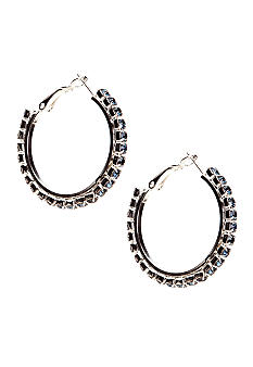 Kim Rogers Rhinstone Hoop Earrings