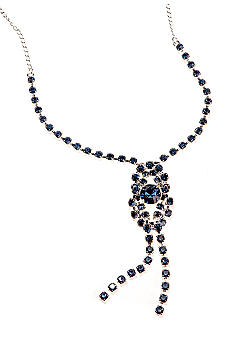 Kim Rogers Crystal Knotted Y Necklace